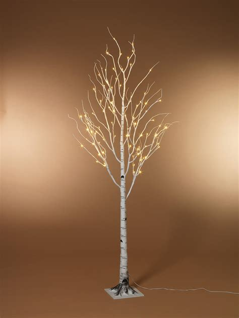 lighted branch tree led birch tree warm white 5ft ships free