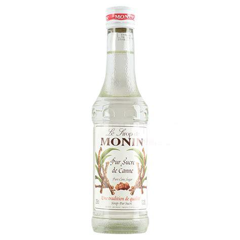 monin pure sugar cane syrup 25cl drinkstuff