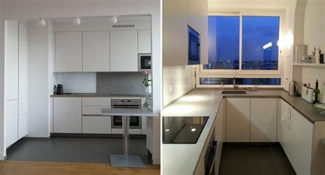 surface cuisine ordinaire cuisine ouverte sur salon petit espace avant