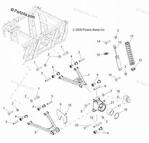 Polaris Side By Side 2012 Oem Parts Diagram For Suspension  Aarms  Mid Drive  U0026 Rear Drive