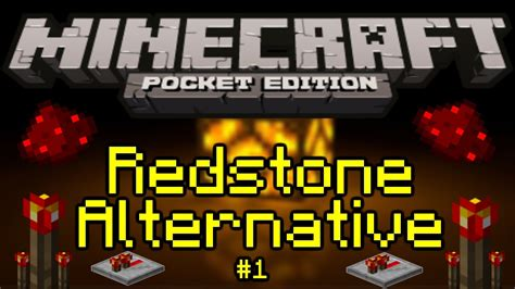 minecraft pe redstone alternative part 1 the basics