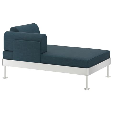 chaise longue hesperide delaktig chaise longue with armrest hillared blue ikea