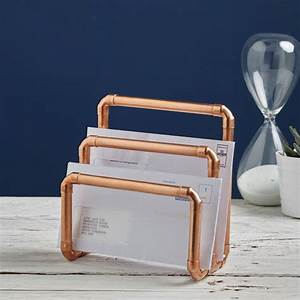 Industrial copper letter holder by lime lace for Gold letter rack