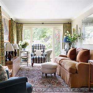 Cozy, English, Cottage, Living, Room