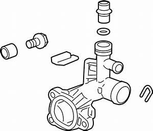 Chevrolet Trax Lt Engine Coolant Outlet Flange  1 4 Liter