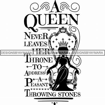 Queen Svg Cricut Quotes Nubian Melanin Silhouette