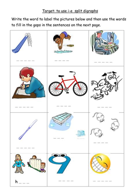 i e split digraph worksheet by joop09 teaching resources