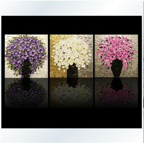 diy painting  pot flowers large paint  number kit set