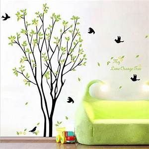 My Lime Orange Tree Wall Art Mural Wall Decal Sticker ...