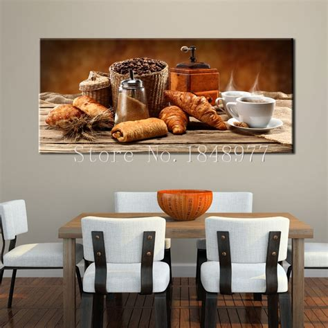 Please remember to share it with your. Large Modern Canvas Art Abstract Still Life Coffee Bread ...