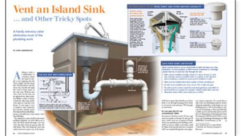 how to vent kitchen sink vent an island sink and other tricky spots 7381