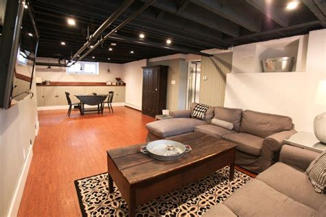 Exposed Basement Ceiling Ideas by Exposed Ceiling For Home