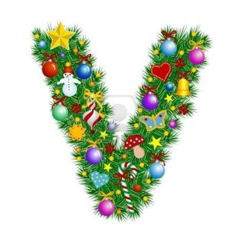 letter v christmas tree decoration my quot Ꮥ quot quot Ꮴ