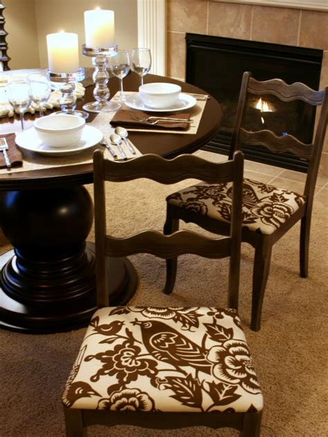 How To Recover A Chair Seat Cushion by How To Re Cover A Dining Room Chair Hgtv