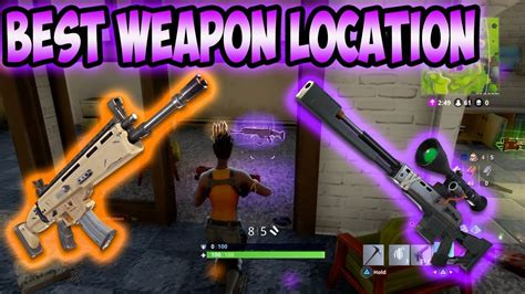 fortnite weapon location youtube