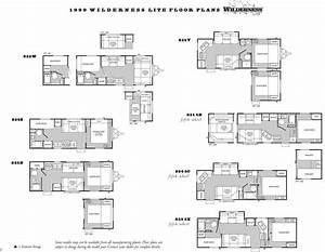 1999 Wilderness Travel Trailer Floor Plan In 2020