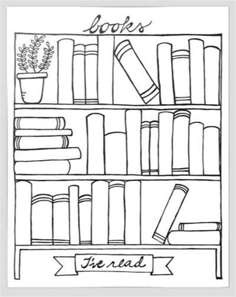 Books I've Read bookshelf graphic organizer printable