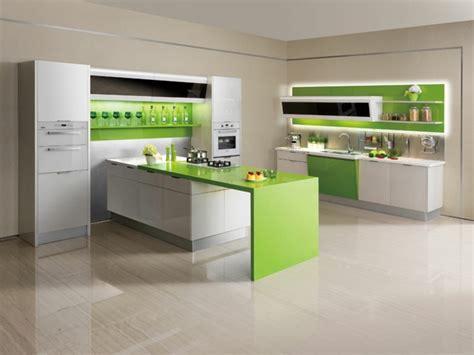 dep en cuisine cuisine verte pour un intérieur naturel et doux