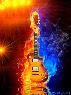 A cover of the guitar solo from fire and water by free. ♥.• ANIMAÇÃO *´♥¨ * ♥¸* | Music collage, Music artwork ...
