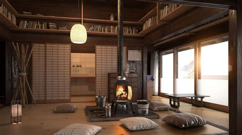japanese style living room    feel zen