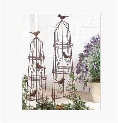 Climbing Frame Wrought Iron Bird Cage Flower Pots Climb