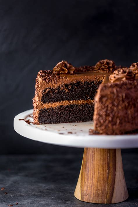 super decadent chocolate cake  fudge frosting
