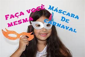 Faça você mesma: Máscara de carnaval - YouTube
