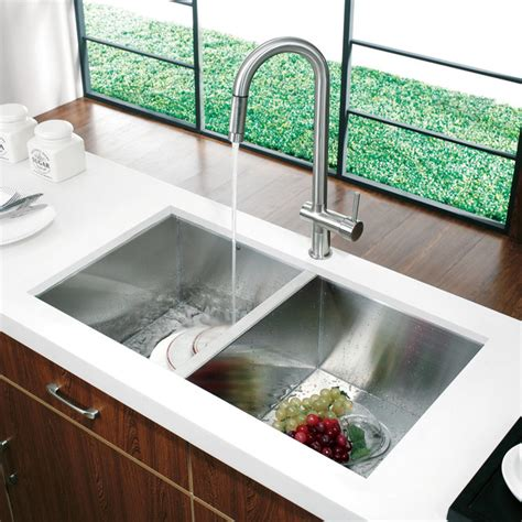 the kitchen sink nyc vg14008 32 quot undermount stainless steel kitchen sink and
