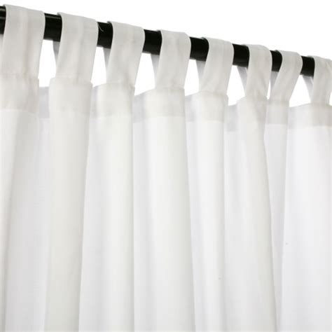 canvas white sunbrella outdoor curtains with tabs dfohome