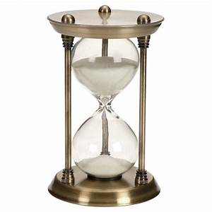 Classic Elegance Rustic Iron and Glass 15-Minute Sand