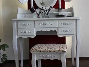Frisiertisch Mit Spiegel : xxl schminktisch inkl hocker spiegel frisiertisch kosmetiktisch landhaus weiss ebay ~ Eleganceandgraceweddings.com Haus und Dekorationen