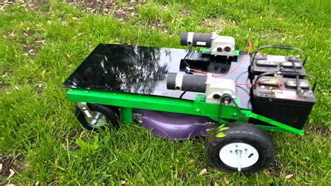 autonomous lawnmower rc lawn mower youtube