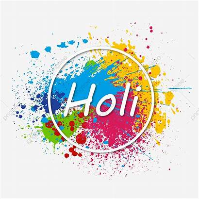 Holi Festival Colorful Splash Flat Clipart Pngtree