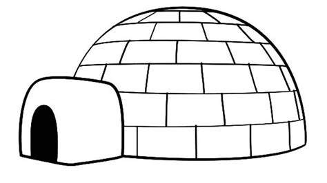 Igloo Coloring Page Hd
