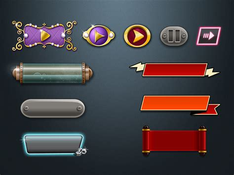 Ui & Uix Elements For Videogames On Behance