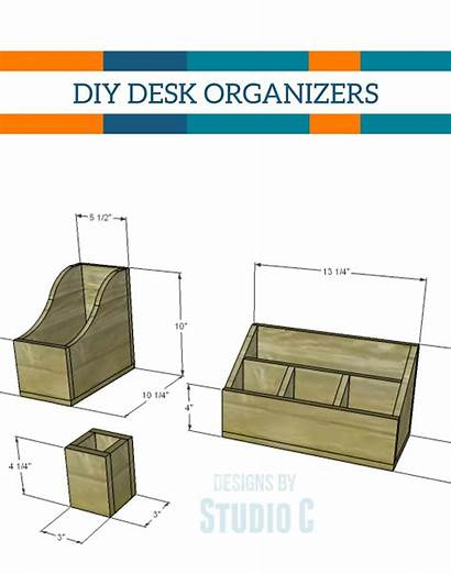 Desk Organizer Diy Wood Wooden Own Office