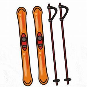 Ski poles clipart - Clipground