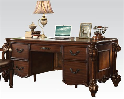 traditional office desks acme furniture office desk in traditional style ac92125