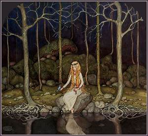 """""""The Princess in the Forest"""" by John Bauer 