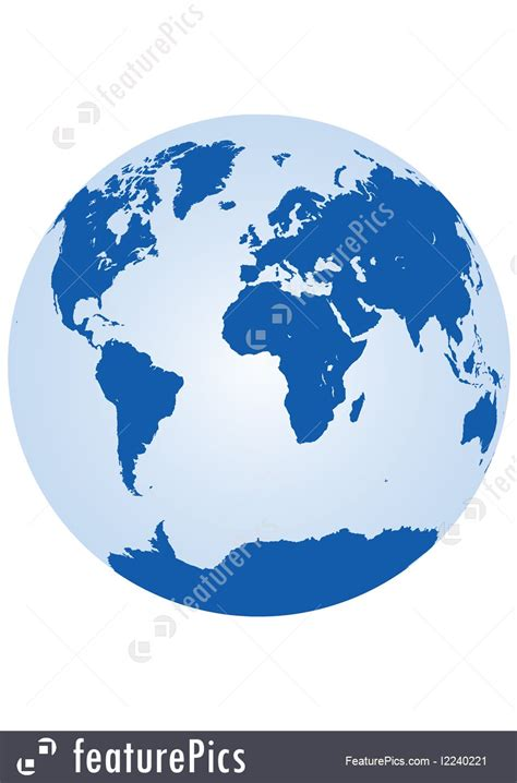The World world vector map showing the whole world in one circle