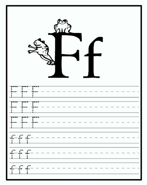 printable letter f worksheets for preschool kindergarten