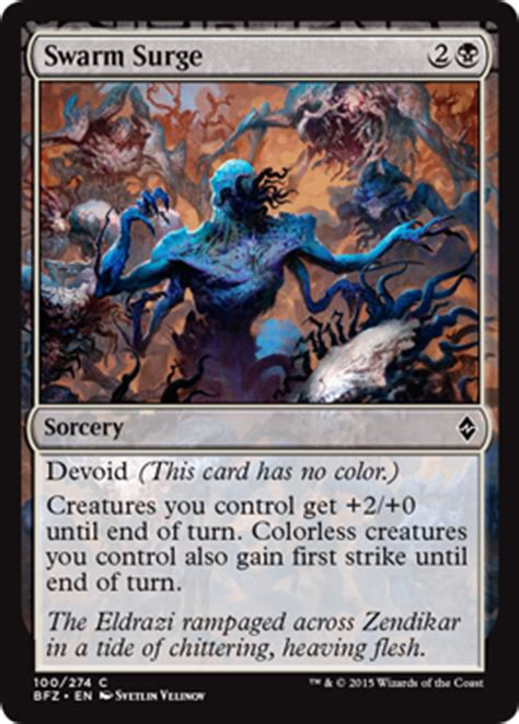 Mtg Insect Swarm Deck by Swarm Surge From Battle For Zendikar Spoiler