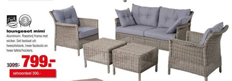 Praxis Loungeset Mimi by Central Park Loungeset Folder Aanbieding Bij Praxis Details
