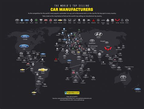 The World's Top Selling Car Manufacturers By Country