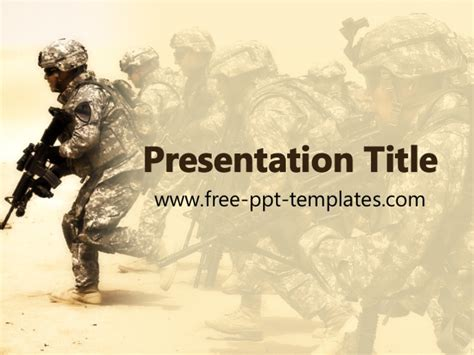 military powerpoint ppt template