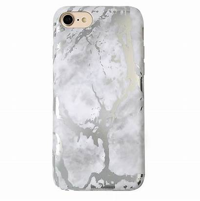 Marble Silver Case Iphone Chrome Phone Cases