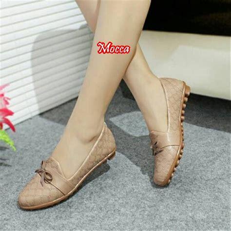 jual sepatu wanita flatshoes debby motif kulit ular di lapak grosir sepatu id grosirsepatuid