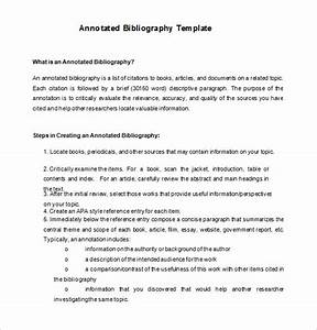 7 annotated bibliography templates free word pdf With free apa bibliography template