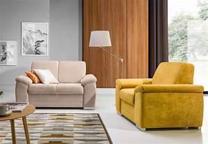 canape droit moutarde meublespro With canapé convertible avec tapis moutarde