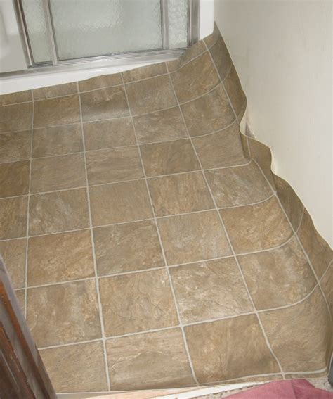 replacing linoleum flooring in bathroom